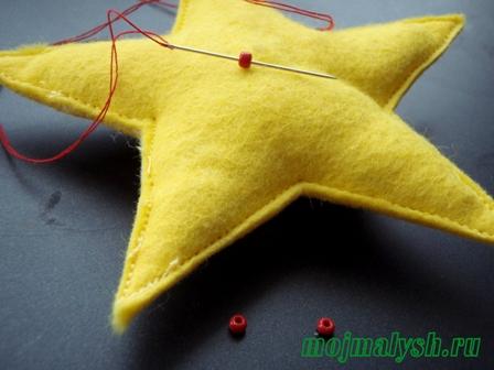новогодняя игрушка звездочка своими руками