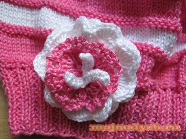 вязаная шапочка для девочки 13