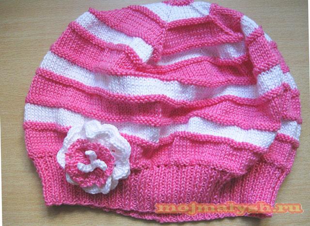 вязаная шапочка для девочки 15