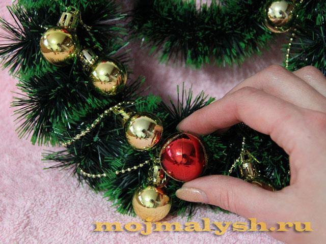 новогодний венок своими руками 7