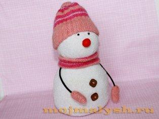 снеговик из носков своими руками
