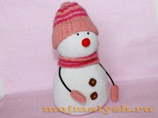 Снеговик из растишки своими руками фото 276