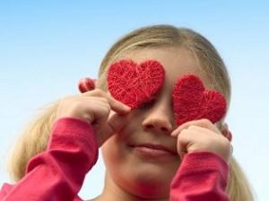 день святого Валентина с детьми